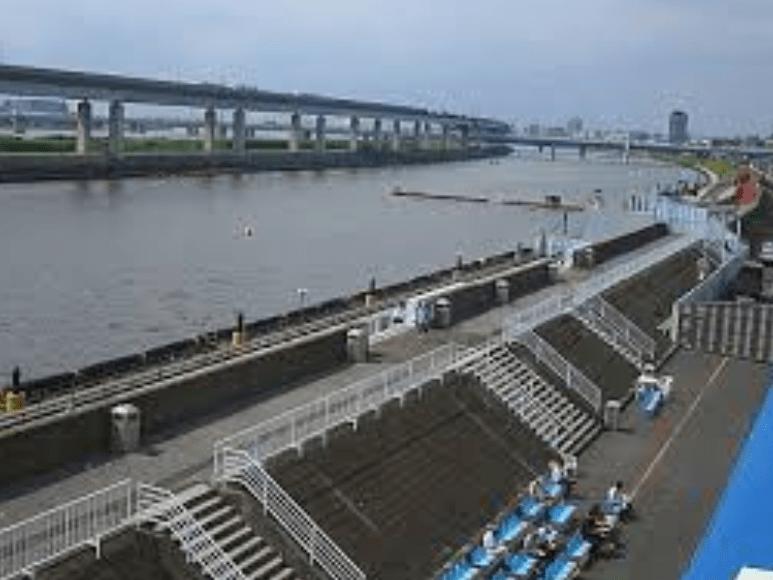 江戸川競艇場のデイレースの風景