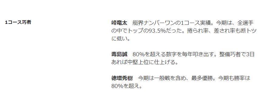 各コース(マーズ)